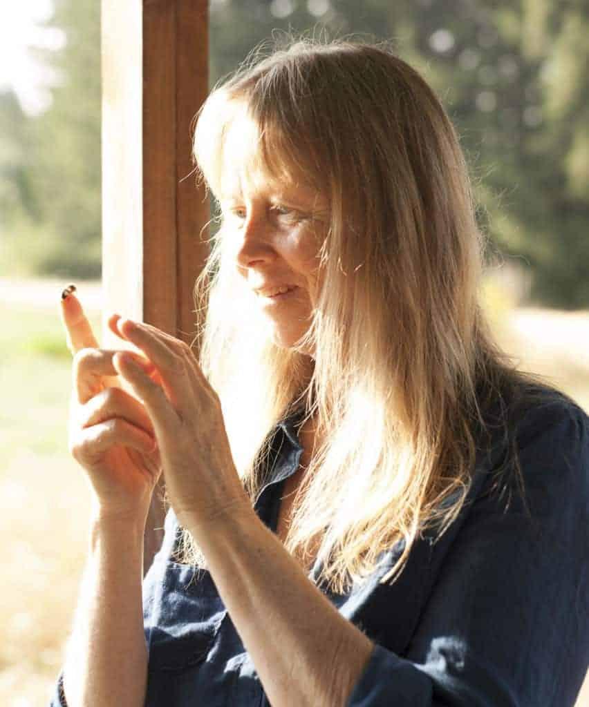 Jacqueline Freeman with bee